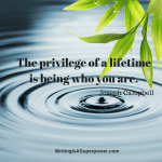 The Privilege of  a Lifetime…
