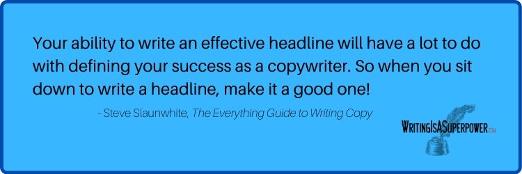 Free Copywriting Course Steve Slaunwhite Quote